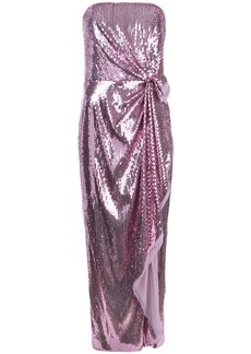Prabal Gurung strapless gathered sequin gown