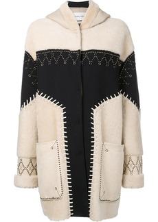 Prabal Gurung studded shearling coat