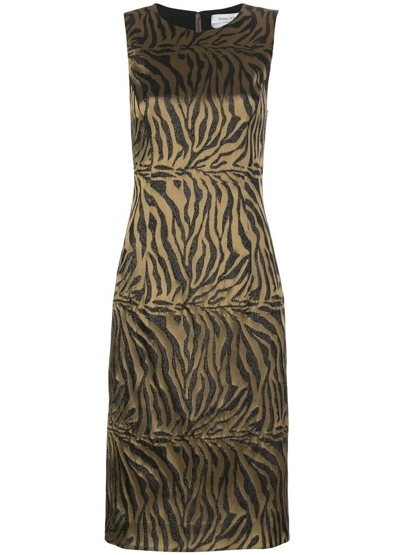 Prabal Gurung tiger-print sleeveless sheath dress