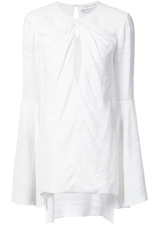 Prabal Gurung twist front keyhole blouse