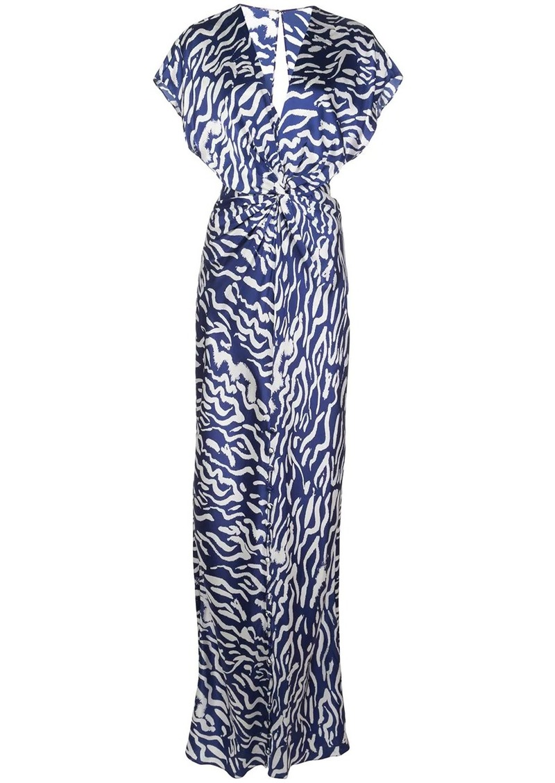 Prabal Gurung twist front two tone gown