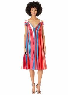 Prabal Gurung V-Neck Pleated Dress