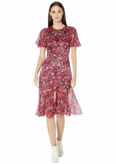 Prabal Gurung Victoria Flutter Sleeve Dress