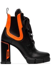 Prada 110 lace up leather ankle boots