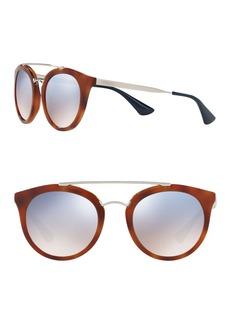 Prada Phantos Catwalk 52mm Round Sunglasses