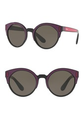 Prada 53mm Irregular Circle Sunglasses