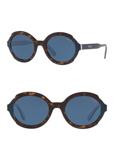 Prada 53mm Oval Sunglasses