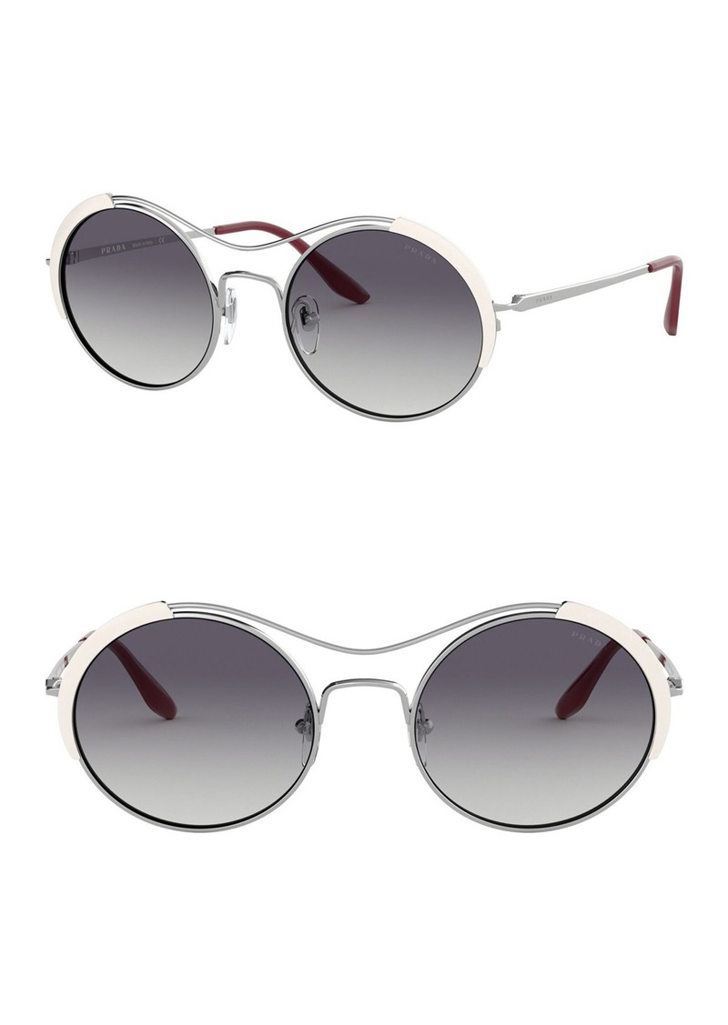 Prada 53mm Round Sunglasses