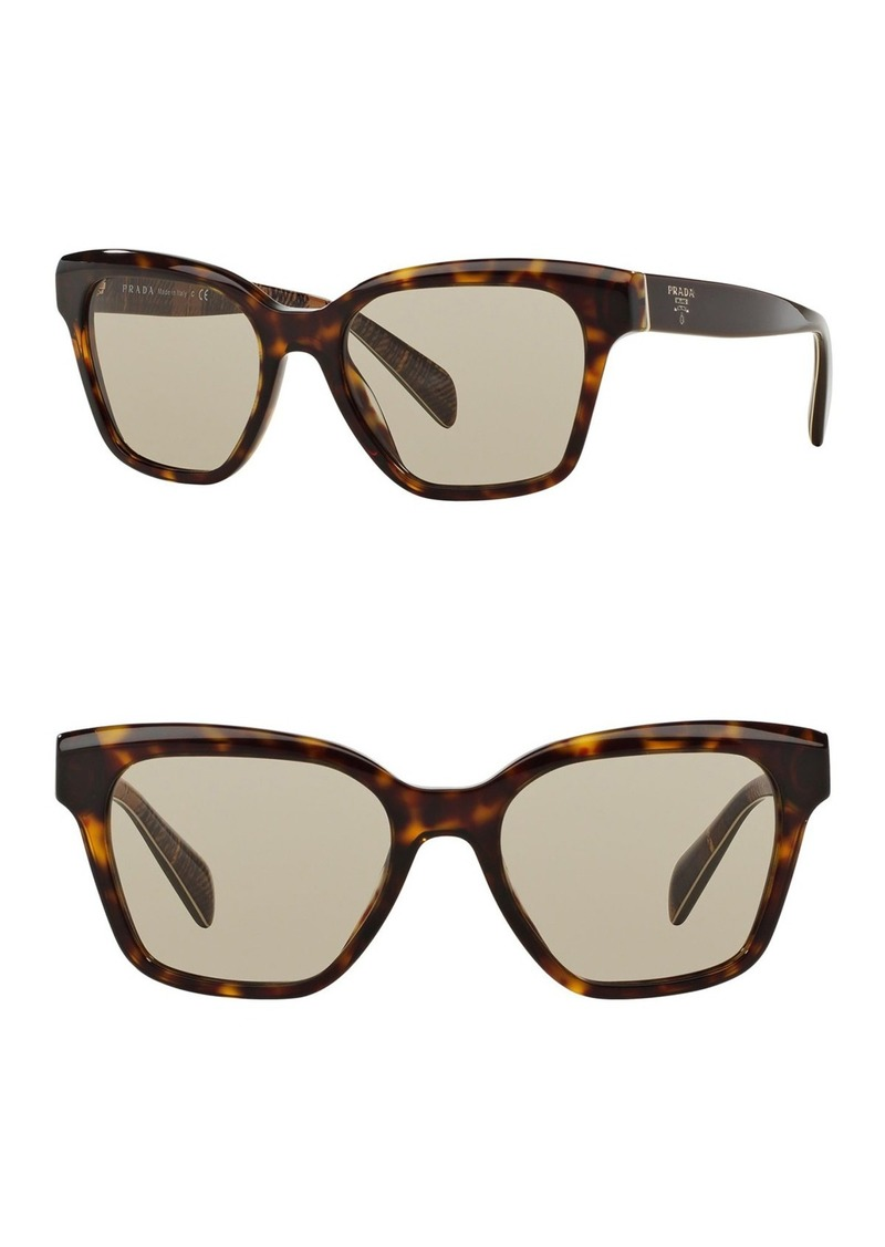 Prada 53mm Square Sunglasses