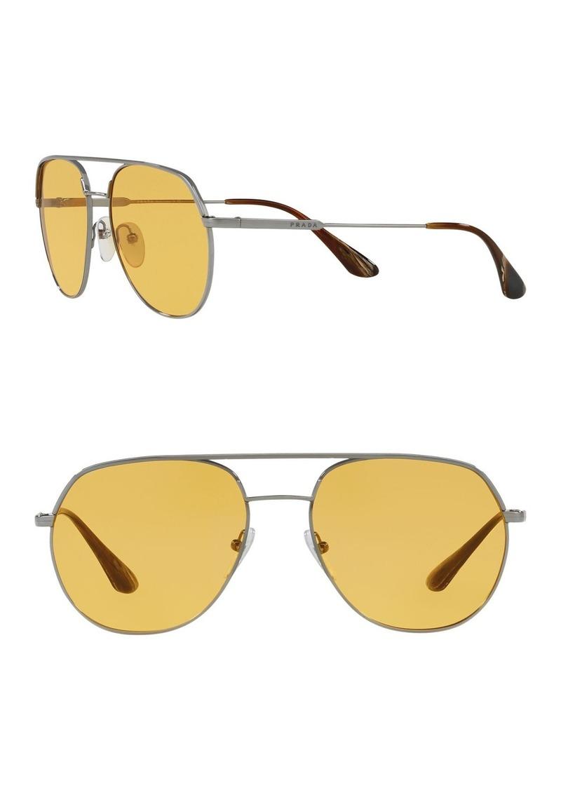 Prada Irregular Conceptual 54mm Aviator Sunglasses