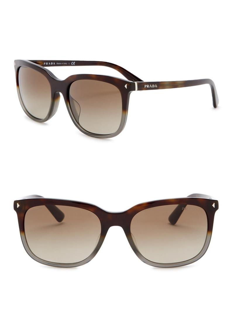 Prada 54mm Rectangular Sunglasses