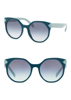 Prada 55mm Round Sunglasses