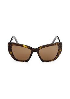 Prada 55MM Havana Cat Eye Sunglasses