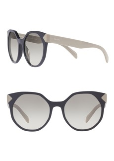 Prada Herritage 55mm Round Sunglasses