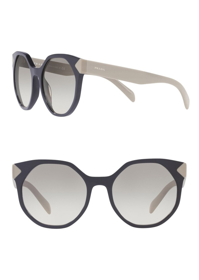 Prada Herritage 55mm Round Sunglasses