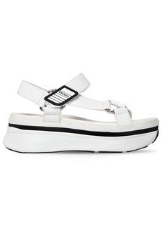 Prada 55mm Leather Wedge Sandals