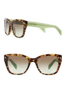 Prada Conceptual Lettering 56mm Square Sunglasses