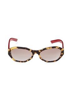 Prada 56MM Oval Sunglasses