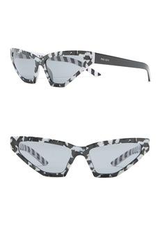 Prada 57mm Butterfly Sunglasses