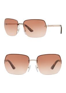 Prada 62mm Pillow Square Sunglasses