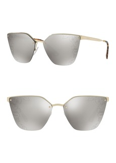 Prada 63mm Cat Eye Sunglasses