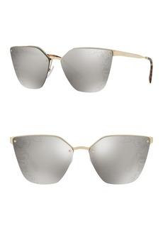 Prada 63mm Cat Eye Sunglasses