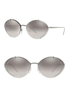 Prada 63mm Oval Sunglasses