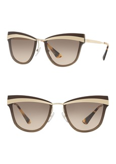 Prada 65mm Cat Eye Sunglasses