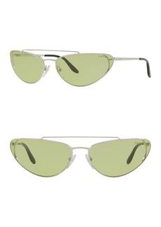 Prada 66mm Irregular Cat Eye Sunglasses