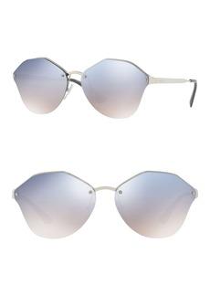 Prada 66mm Irregular Sunglasses