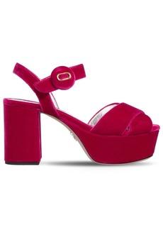 Prada 80mm Velvet Sandals