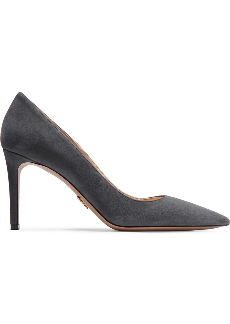 Prada 85 Suede Pumps