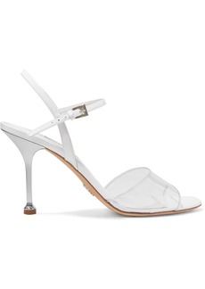 Prada 90 Patent-leather And Pvc Sandals