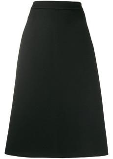 Prada A-line poplin skirt