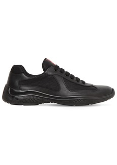 Prada America's Cup Leather & Mesh Sneakers