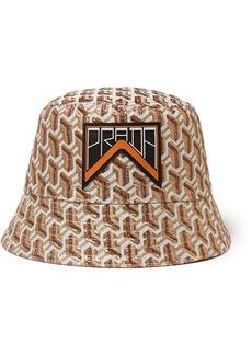 Prada Appliquéd Metallic Jacquard Bucket Hat