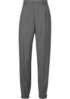Prada Appliquéd Wool And Mohair-blend Straight-leg Pants