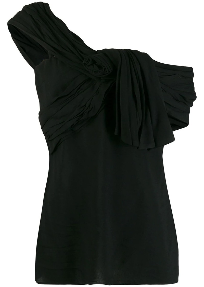 Prada asymmetric strap vest top