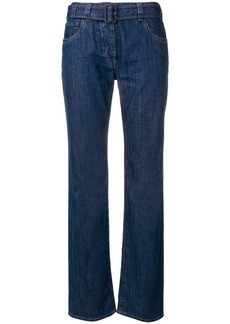 Prada belted denim jeans