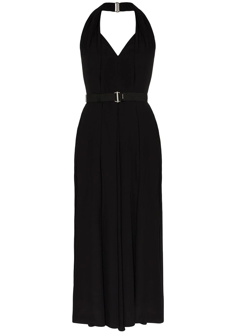 Prada belted halterneck dress