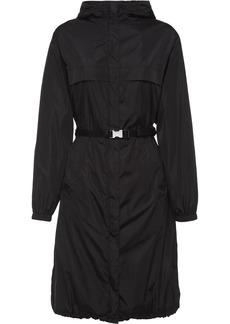 Prada belted hooded raincoat