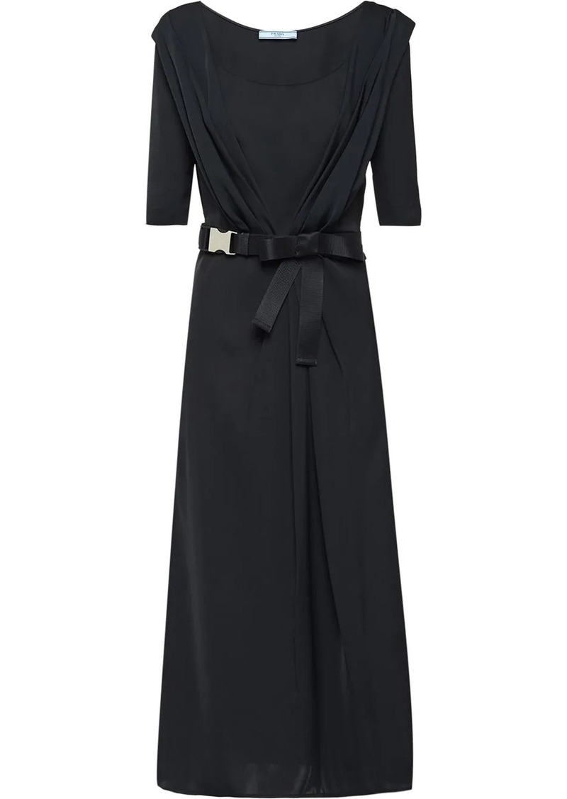 Prada belted midi dress