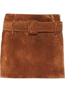 Prada belted mini skirt