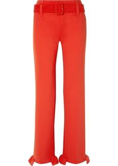 Prada Belted Ruffled Tech-jersey Straight-leg Pants