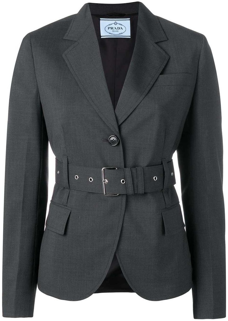 Prada belted single-breasted blazer