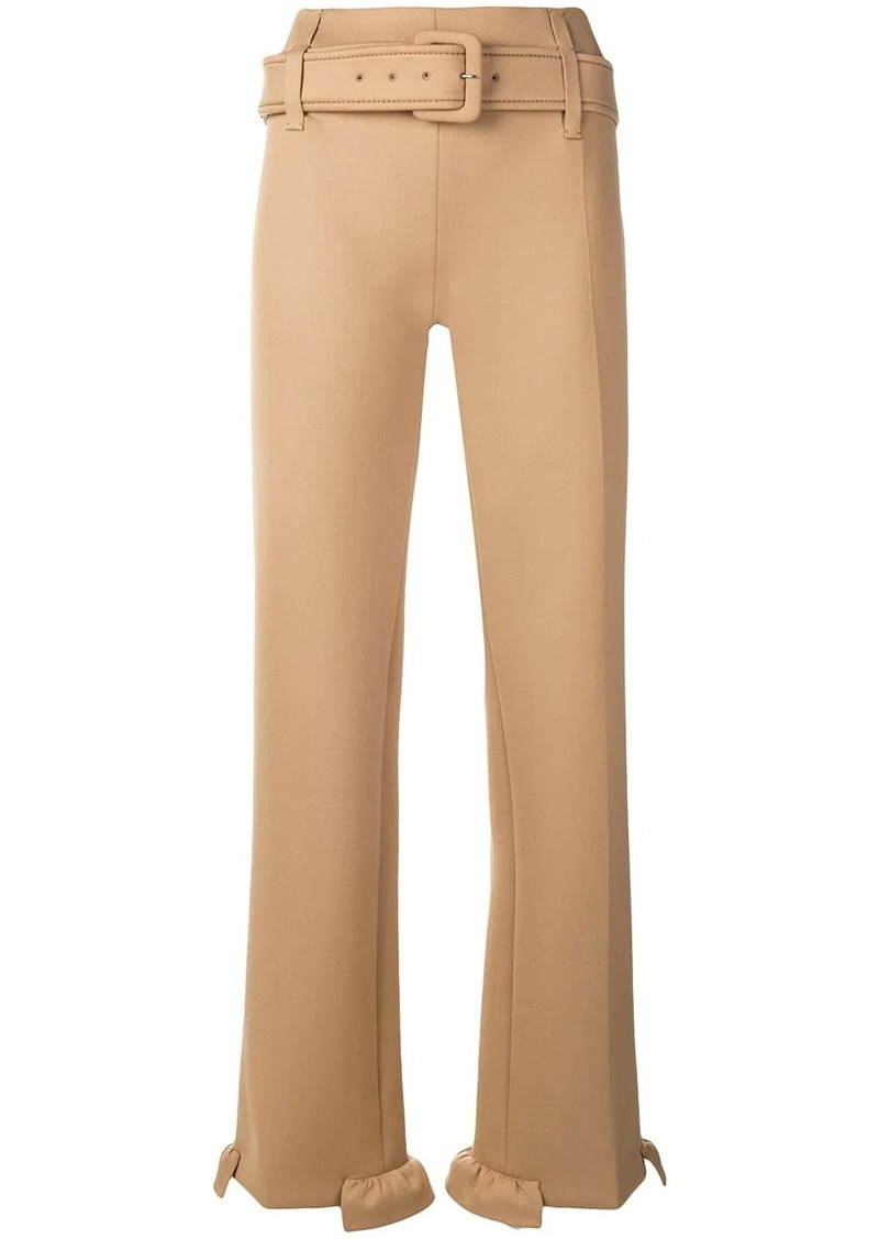 Prada belted straight-leg trousers