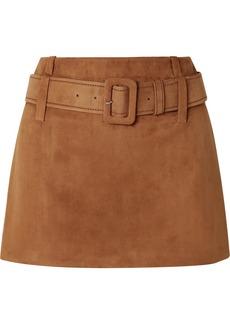 Prada Belted Suede Mini Skirt