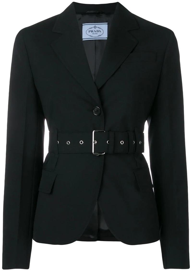 Prada belted suit jacket