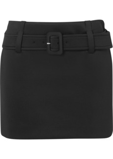 Prada Belted Tech-jersey Mini Skirt