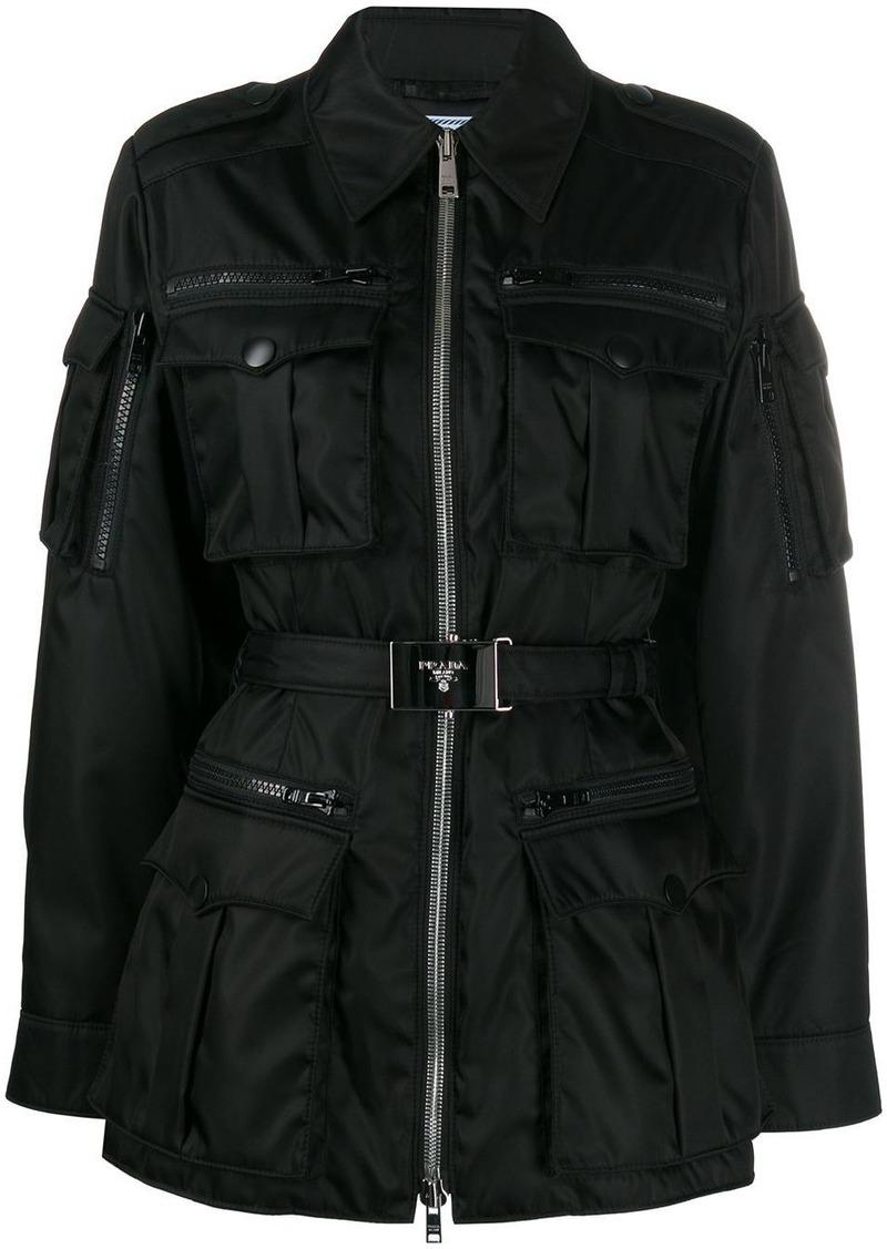 Prada belted utility jacket